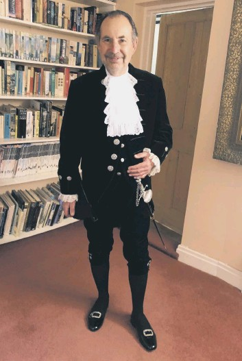 ??  ?? Neil Hart, the High Sheriff of West Sussex for 2021-22, was invested in a virtual dedication ceremony on April 30