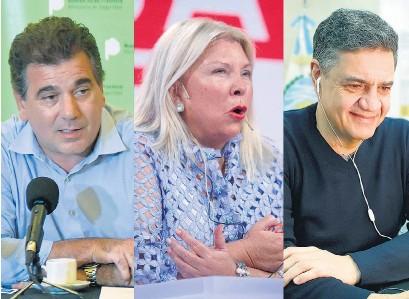 ??  ?? Ritondo, Carrió y Jorge Macri, tres de los referentes de JxC que buscan ser candidatos.