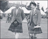 ??  ?? GAMESMAN: William Forbes-Sempill, left, at The Aboyne Games