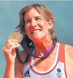 ?? Picture: PA. ?? Katherine Grainger looks unlikely to have the chance to repeat her London Olympics success.