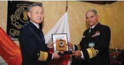 ??  ?? DG Coast Guard Vice Admiral Anurag G Thapliyal with Admiral Yuji Sato, Commandant of the Japan Coast Guard