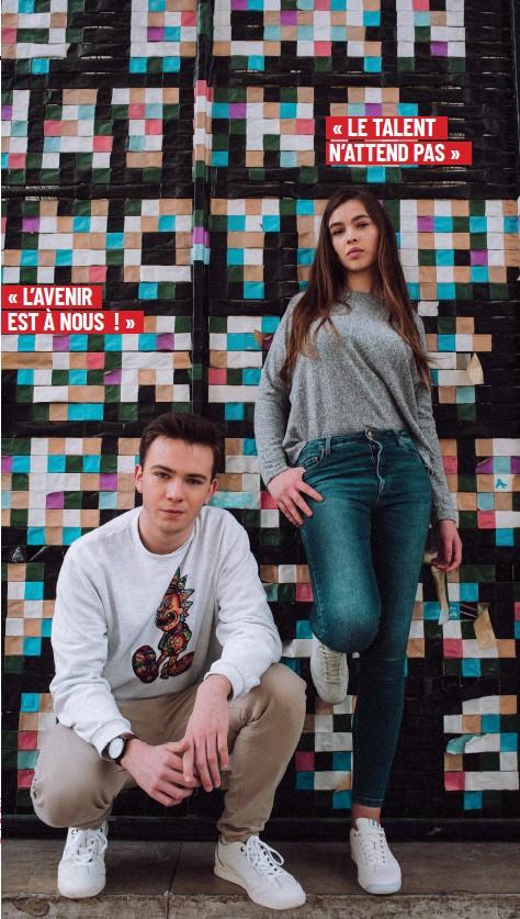 ??  ?? Tom et Elin portent des Kickers Kick 18 en cuir Collection Sportswear Printemps Eté 2019