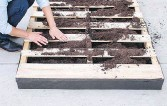 ??  ?? Step 6: Using your hands or a garden hoe, form trenches in the soil.