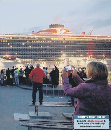?? Picture: Habibur Rahman ?? of the giant cruise liner's departure last night