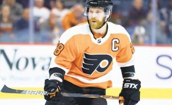 ?? SLOCUM/AP MATT ?? Philadelphia Flyers' captain Claude Giroux is looking to get back to his elite scoring form in 2021.