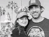 ?? MATT STROSHANE/COURTESY PHOTO ?? Shailene Woodley and Aaron Rodgers enjoyed a stay at Disney's Grand Floridian Resort on a recent vacation to Lake Buena Vista.