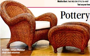 Iconic Rattan Malabar Chair And Ottoman