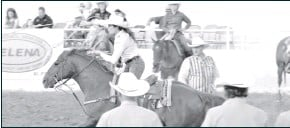 ?? Herald photos/Dustin Pope ?? The Big Spring Rodeo and Cowboy Reunion returned to action this past weekend, Thursday, June 17-19, in Big Spring. The event was packed withfamiy entertaiment and excellent rodeo action. Some of the top Cowboys and Cowgirls competed in the event. By DUSTIN POPE