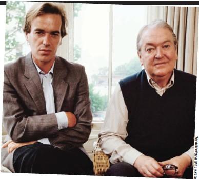 ??  ?? Ladies' men: Martin and Kingsley in 1989