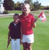 ??  ?? In many ways, family is part of your career as your dad has always been your coach and now Brittany is your caddie. How much does it mean to have that support? My dad has been our coach since day one, and it's been so special to have both him and my...