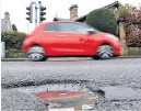 ??  ?? Danger One of PKC's 1696 potholes