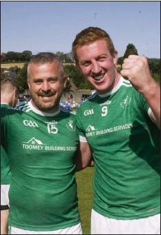 ??  ?? Liam Mullin and John Hanbidge celebrate after the IFC final.