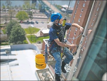 """??  ?? """"I wasn't afraid of heights,"""" Murin said. """"I was able to get over the first time and just continue to do it."""""""