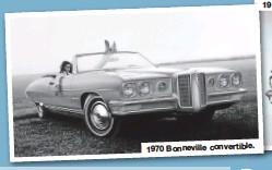 ??  ?? 1970 Bonneville convertible. 1962 Bonneville convertible.