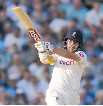 ?? Photo / AP ?? Rory Burns was half of an unbeaten opening stand with Haseeb Hameed that shouldered England's hopes.