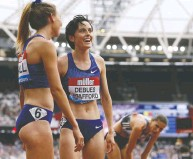 ?? IAN KINGTON / AFP / GETTY IMAGES FILES ?? Among the few Canadian women with an outside shot at the podium in track and field is 1,500m runner Gabriela DeBues-Stafford, who is ranked 11th in the world.