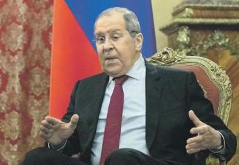 ?? Фото Reuters ?? В ведомстве Сергея Лаврова считают иск против Украины давно назревшим шагом.
