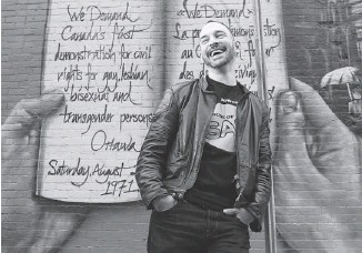?? JULIE OLIVER/OTTAWA CITIZEN ?? High-energy, fast-talking Sebastien Provost, former owner of the gay/straight bar Flamingo and current owner of House of SAS Promotions, has been elected to lead the LGBT festival Capital Pride.