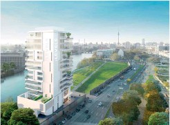 ??  ?? Berlino. Il nuovo edificio Living level con prezzi da 6mila a 15mila euro al mq