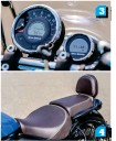 ??  ?? 3. The tachometer is sorely missed. 4. There is not much space for the pillion