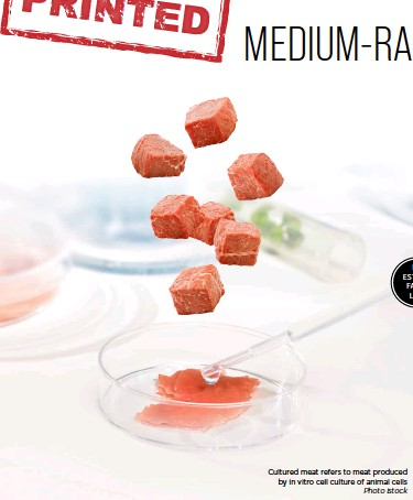 ??  ?? Cultured meat refers to meat produced by in vitro cell culture of animal cells