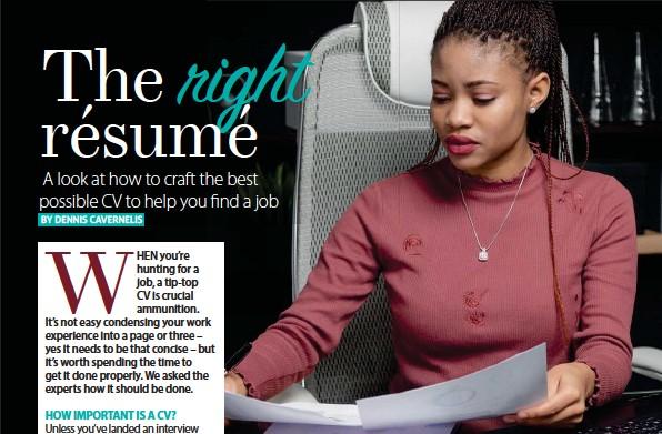 PressReader - Move!: 2019-04-17 - The right resume