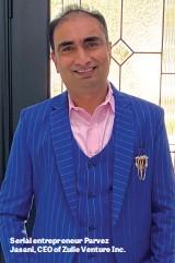 ??  ?? Serial entrepreneur Parvez Jasani, CEO of Zulie Venture Inc.