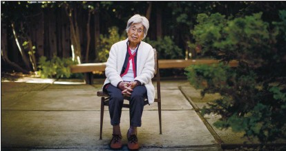 ?? DAI SUGANO — STAFF PHOTOGRAPHER ?? Jean Mitoma, of Palo Alto, who was forced to live in internment camps during World War II, poses for a portrait Wednesday.