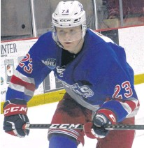 ?? JASON SIMMONDS • THE GUARDIAN ?? Justin Ertel of the Summerside D. Alex MacDonald Ford Western Capitals has been selected as the left-winger for the Maritime Junior Hockey League's Eastlink South Division allstar team.