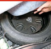 ??  ?? 29 CHECK SPARE WHEEL The spare wheel is in the boot, un­der the false floor. It's a space­saver type, with a max­i­mum speed of 50mph, so will need to be pumped up to 60psi. Make sure it's fit for pur­pose, with no dam­age, and ad­e­quate tread left. Also check that the tool kit around it is com­plete.
