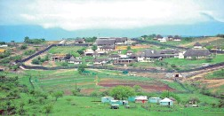 ??  ?? EXTRAVAGANT: President Jacob Zuma's homestead at KwaNxamalala, Nkandla.