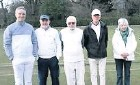 ??  ?? Bath Croquet Club's Andrew Willis, Paul Francis, Bob Hart, Tony Curson and Mary Bertin at Nailsea