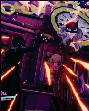 ??  ?? Plongez dans l'univers pop et l'esthétique manga de Persona 5 Strikers.