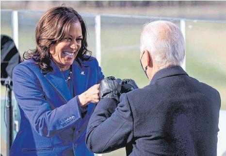 ?? FOTO: JONATHAN ERNST/AFP ?? Seit 20. Januar ist Kamala Harris US-Vizepräsidentin.