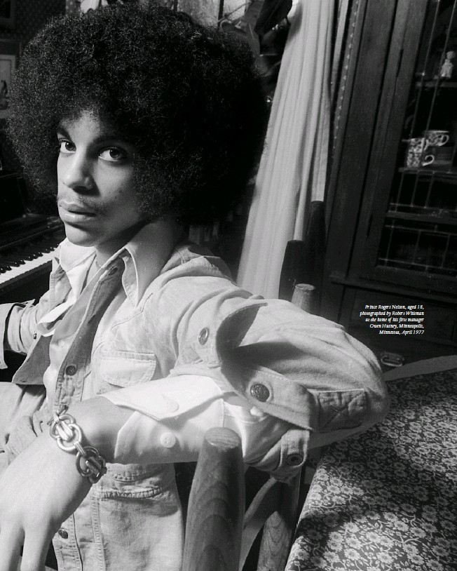 ??  ?? Prince Rogers Nelson, aged 18, photographed by Robert Whitman at the home of his first manager Owen Husney, Minneapolis, Minnesota, April 1977
