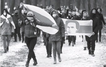 ??  ?? У Білорусі не вщухають протести.