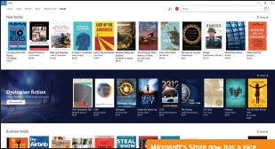 ??  ?? Microsoft's Store now has a nice collection of ebooks to go along with its movies, music, apps, and more