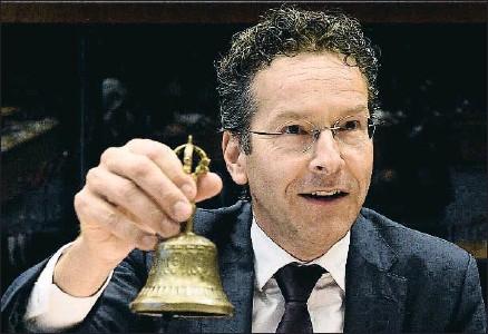?? JOHN THYS / AFP ?? El socialdemócrata Jeroen Dijsselbloem pone fin a su mandato; candidatos a sustituirle no faltan