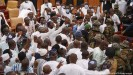 ??  ?? Ghanaian soldiers intervene in Parliament to quell a clash between opposing parties