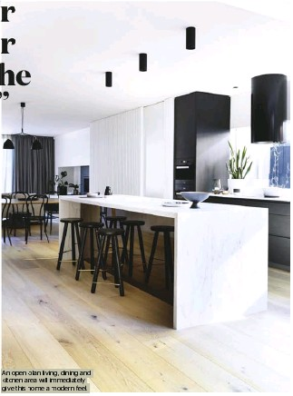 ??  ?? An open-plan living, dining and kitchen area will immediately give this home a modern feel.