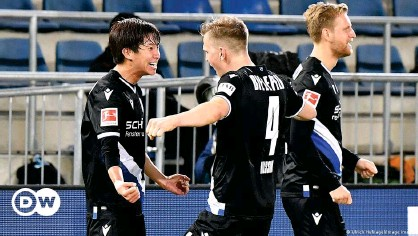 ??  ?? Arminia Bielefeld have won two of their last four games and are making a push for survival