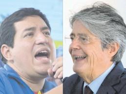 ??  ?? La autoridad electoral ecuatoriana anunció que Andrés Arauz (i) y Guillermo Lasso (d) irán al balotaje.