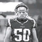 ?? GREG M. COOPER/USA TODAY SPORTS ?? Chase Winovich has played two seasons for the Patriots after being a third-round draft choice in 2019 out of Michigan.