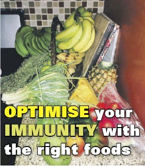 ??  ?? COVID-19 is in the 'air', and it's very important to have a strong immune system to fight it. Your diet will play a very important role in this, as certain foods help to build immunity.