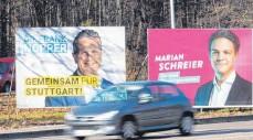 ?? FOTO: BERND WEISSBROD/DPA ?? Frank Nopper (CDU) gilt als Favorit für die Wahl des Oberbürgermeisters am Sonntag.