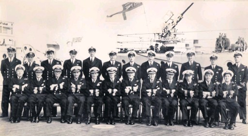 ?? Robin Curry ?? Pictured with other Naval officer during a review by royalty