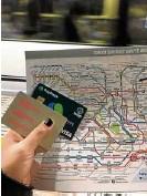??  ?? Tokyo essentials: subway map, Pasmo card and PayMaya Visa card