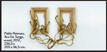??  ?? Pablo Reinoso, Two for Tango, wood, 2012, 236,5 x 205 x 56,5 cm.