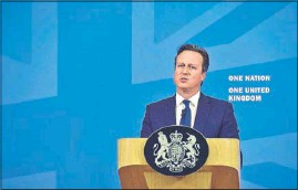 ?? AFP ?? British Prime Minister David Cameron said that conspiracy theories of a Western plan to destroy Islam must be challenged in efforts to counter radicalisation.