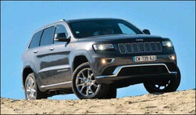 ??  ?? Toujours plus routier, le Grand Cherokee conserve néanmoins d'excellentes aptitudes pour le tout-terrain. Jeep Gd Cherokee 3.0 V6 CRD Summit 74 400 € 250 ch CO2 : 184 g/km